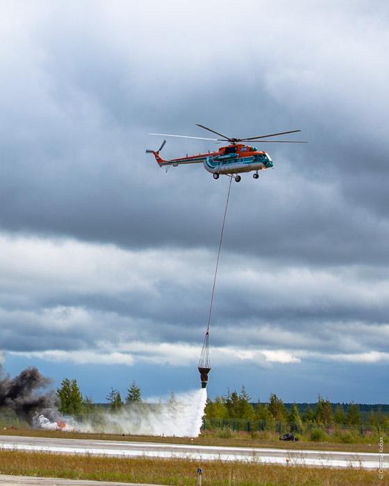 вертолет на пожаре