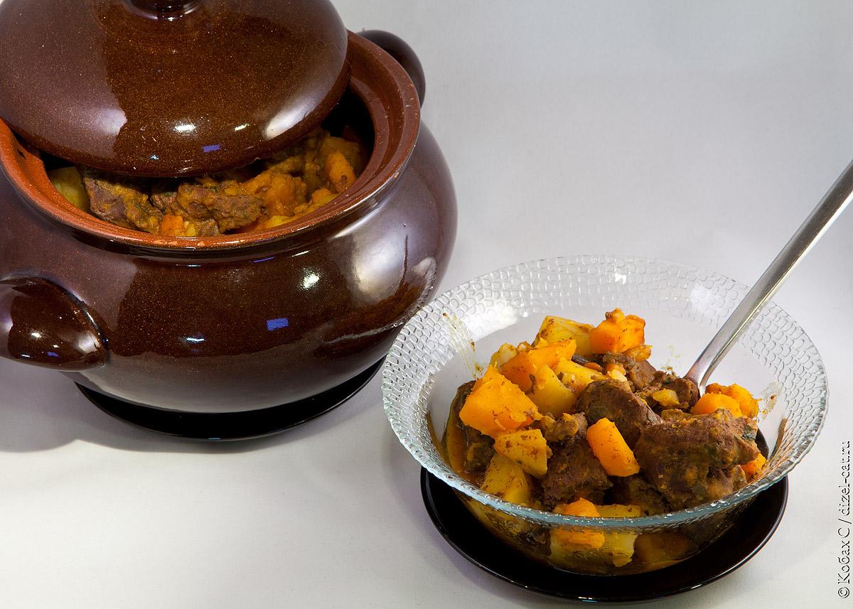 рецепт из мяса и тыквы