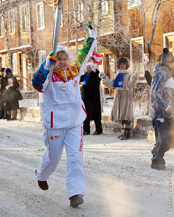 олимпийский огонь в мирном